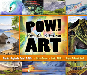 Invitation Postcard for POW! Art: Pastel, Oil, Watercolor