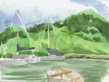 Kauai Artwork by Hawaii Artist Emily Miller - Plein Air at Nawiliwili Harbor