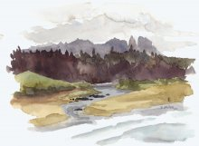 Kauai Artwork by Hawaii Artist Emily Miller - Plein Air at Kealia Lookout