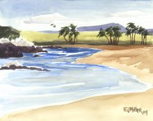 Kauai Artwork by Hawaii Artist Emily Miller - South Baby Beach, Salt Pond