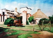 Koloa Sugar Mill - Hawaii watercolor by Emily Miller