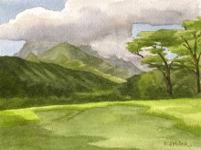 Kauai Artwork by Hawaii Artist Emily Miller - Plein Air, Keapana Road