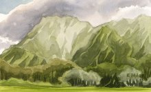 Kauai Artwork by Hawaii Artist Emily Miller - Waipouli mountain view