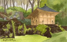 Hall of Compassion, Lawai International Center - Hawaii watercolor by Emily Miller