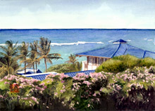 Kauai Artwork by Hawaii Artist Emily Miller - The View from Jean's