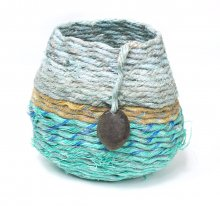 Kauai watercolor artwork by Hawaii Artist Emily Miller - Sand Beach Basket