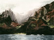 Kauai Artwork by Hawaii Artist Emily Miller - Na Pali Mist