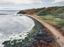 Kauai Artwork by Hawaii Artist Emily Miller - Salt Pond, Low Tide