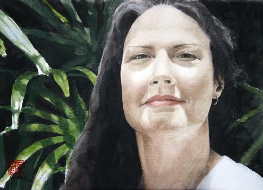 Helen, Noho 'ana — Kauai life -  artwork by Emily Miller