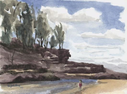 Plein Air at Lumahai Beach, 2007