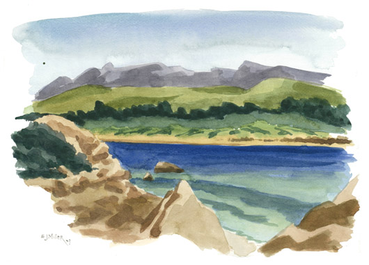 Plein Air at Morro Bay, California, 2009