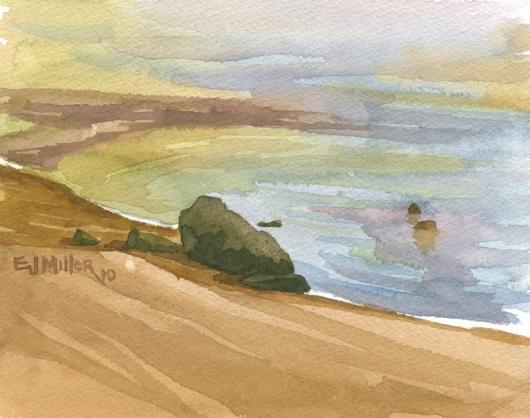 Quick sketch at Mahaulepu, 2010