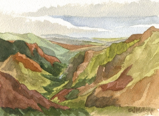 Kauai Artwork by Hawaii Artist Emily Miller - Waimea Canyon and River