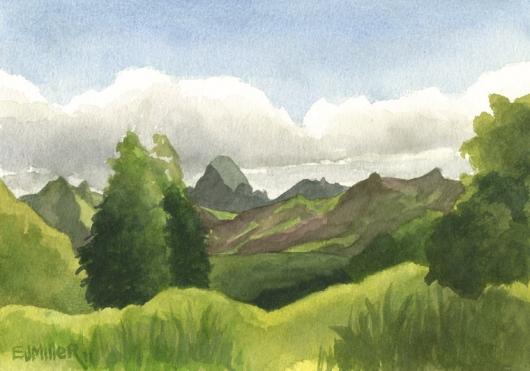 Haupu Mountain from Kahili Mountain Park, 2011