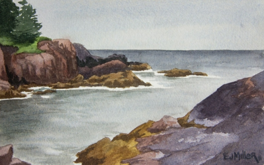 Plein air at Acadia National Park, 2011