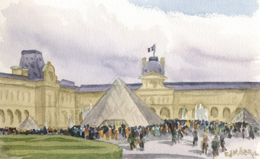 Entrance to the Louvre, Paris, 2012