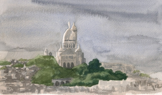 View of Sacre-Coeur, Paris, 2012