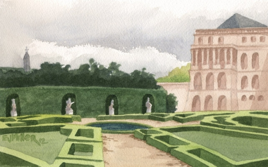 Versailles palace gardens, France, 2012