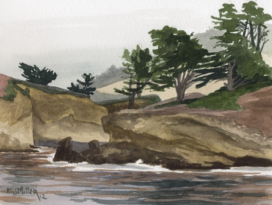 Whaler's Cove - Point Lobos, Monterey, California, California -  artwork by Emily Miller
