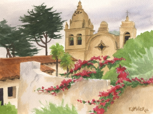Carmel Mission, California, $250.00