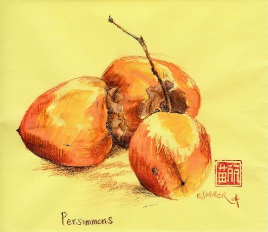 Still Life, Persimmons, 2004 •