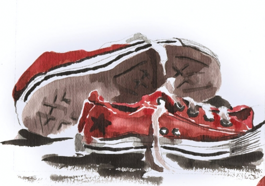 Red Converse - Pochade Challenge, 2003