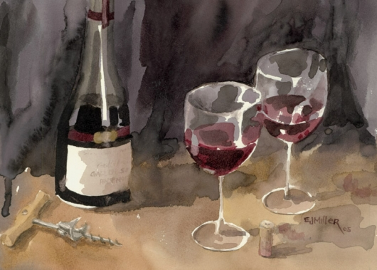 Red Wine 1, 2005 •