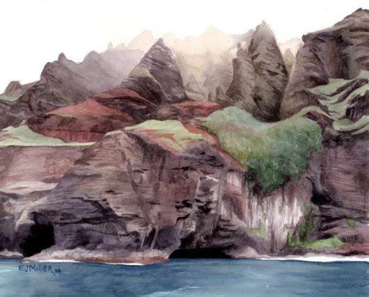 Na Pali Caves, 2006 •
