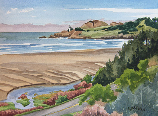 Yaquina Head Lighthouse from Agate Beach, $295