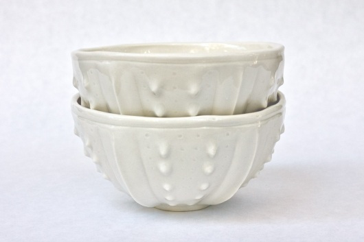 Urchin Rice Bowl - White, $50.00 Set of 2.