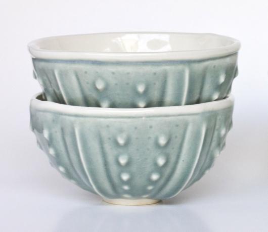 Urchin Rice Bowl - Mist, $50 Set of 2.