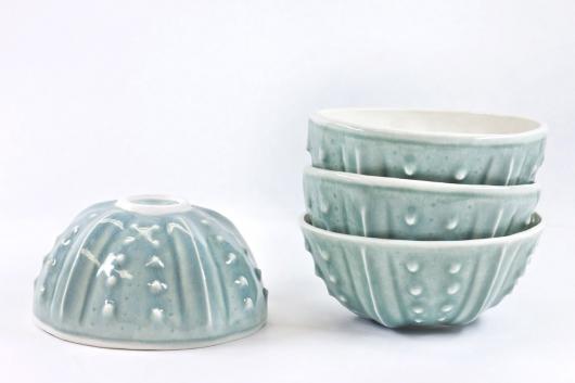 Urchin Rice Bowl - Mist, $90 Set of 4.