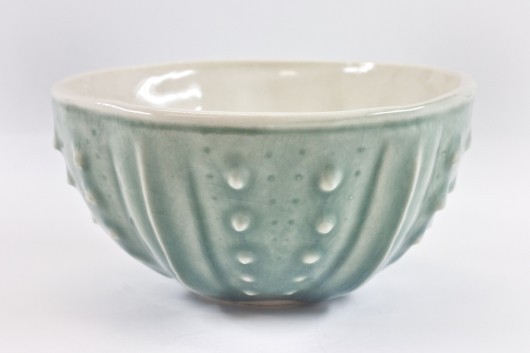 Urchin Rice Bowl - Mist, Urchin Bowls -  artwork by Emily Miller