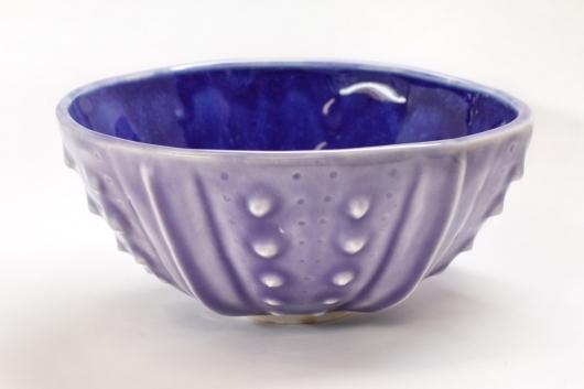Urchin Rice Bowl - Lavender & Cobalt, 2014