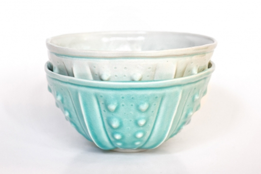 Urchin Rice Bowl - Aquamarine (Delicate), $50 Set of 2.