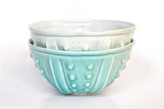 Urchin Rice Bowl - Aquamarine (Delicate), $28.00