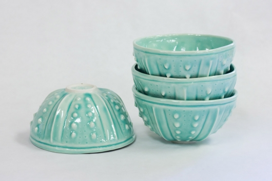 Urchin Rice Bowl - Aquamarine, $90 Set of 4.    2 sets available