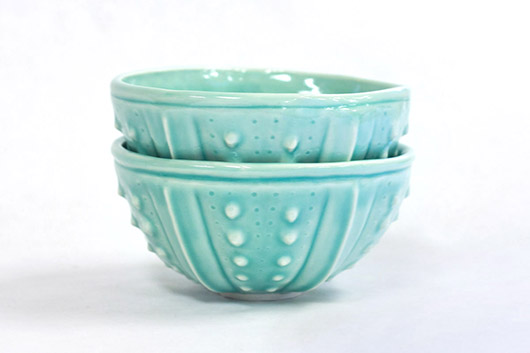 Urchin Rice Bowl - Aquamarine, $50 Set of 2.