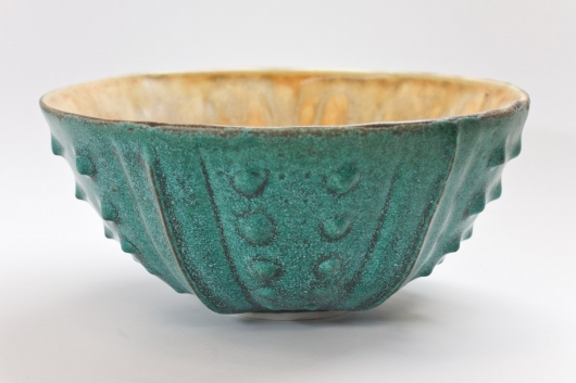 Urchin Rice Bowl - Teal & Cream, 2014
