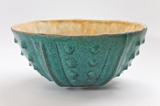 Urchin Rice Bowl - Teal & Cream, 2014