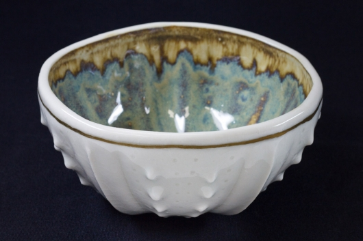Urchin Rice Bowl - Gold Rim, 2014