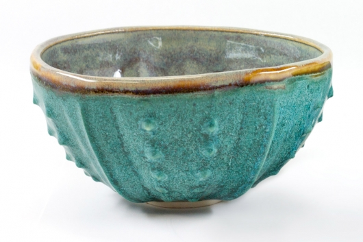 Urchin Rice Bowl - Teal Twilight, Urchin Bowls -  artwork by Emily Miller