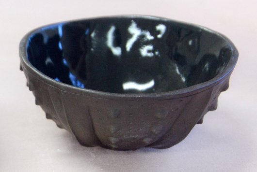 Urchin Rice Bowl - Onyx, Urchin Bowls -  artwork by Emily Miller