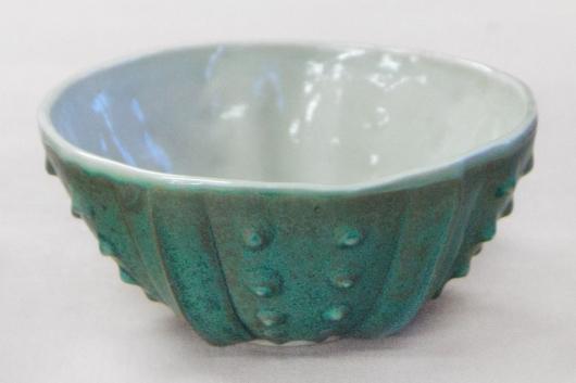 Urchin Rice Bowl - Teal & Gray, 2014