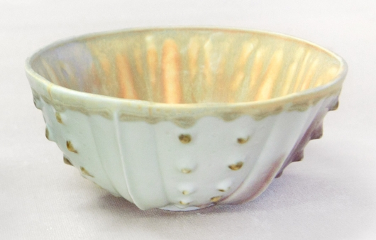 Urchin Rice Bowl - White & Cream, 2014