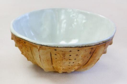 Urchin Rice Bowl - Sandstone & White, 2014