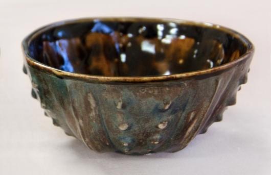 Urchin Rice Bowl - Tortoiseshell, Urchin Bowls -  artwork by Emily Miller