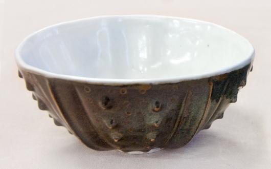 Urchin Rice Bowl - Tortoiseshell & White, 2014