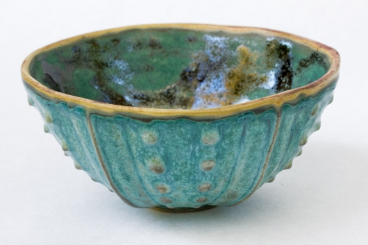 Urchin Rice Bowl - Copper Patina, Urchin Bowls -  artwork by Emily Miller