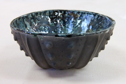 Urchin Raku Bowl - Black Speckle, 2014
